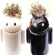 供应机器人新奇特室内植物盆栽 创意玩具礼品