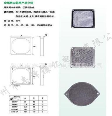 180三合一塑料防尘网罩 18060防尘网罩 风机防尘罩