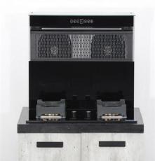 侧吸燃气灶一体灶,双电机集成灶,头部加热烟灶套装自动清洗