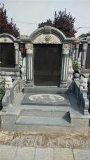 芝麻灰墓碑 芝麻白墓碑 中式农村家族墓碑