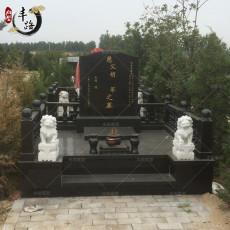 中国黑墓碑 二号山西黑厂家 家族合葬墓碑