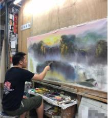 谭其明油画风景玄关山水油画系列