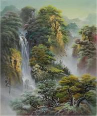 吕国良山水油画各规格作品欣赏