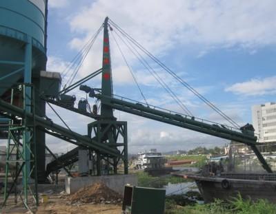 盐城科德固定式粉煤灰水泥矿粉螺旋式卸船机