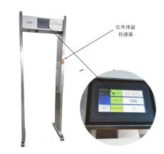 現貨供應路博LB-104門式紅外測溫儀