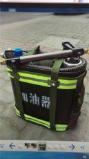 灭火机加油器 背油桶 背水桶 便携式金属桶