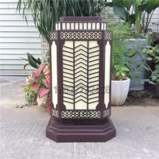 不锈钢柱头灯拉丝镀铜矮柱灯园区步道灯厂家