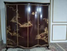 英式亚历山大家具四门实木手绘衣柜定制厂家