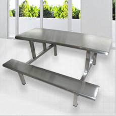 食堂不锈钢餐桌椅 不锈钢八人餐桌康胜直销