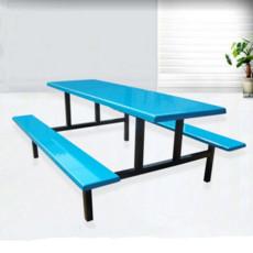 玻璃钢连体餐桌椅 玻璃钢八人餐桌康胜直销
