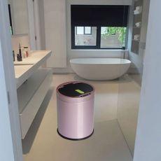 廠家直銷不銹鋼圓形收納桶全自動智能感應垃