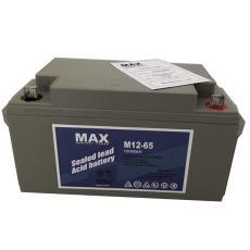 MAX免维护铅酸蓄电池M12-65 12V65AH免维护