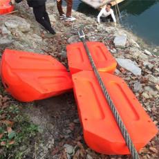 悬浮式拦污排水面隔离垃圾塑料浮筒安装