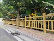 河南水泥仿竹子欄桿廠家 四川馳升仿木護欄