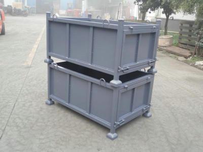 金属周转箱 重型周转框 钢料箱 开门堆垛箱