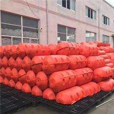 橙色警示浮筒圓柱形攔污漂排加工廠