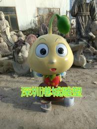 深圳玻璃钢黄豆芽卡通雕塑专业生产团队厂家