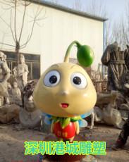 广州市场迎宾玻璃钢豆芽豆苗卡通雕塑报价厂