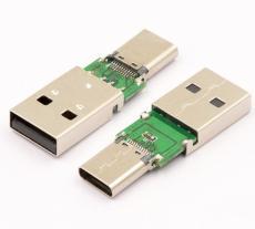 大电流TYPE C母座转接USB2.0公头 OTG二合一