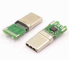 Type C公头3.1 C to C拉伸公头连接器24pin