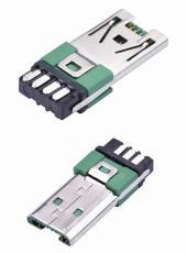 MICRO USB 7Pin公头OP快充安卓V8插头大电流