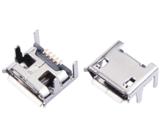 MICRO 5P USB母座接头 四脚插板V8直边接口