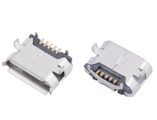 MICRO USB 5P B型母座牛角反向直边DIP插板