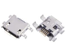 MICRO USB 5P母座沉板两脚插板SMT贴片 卷口