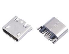 MICRO USB 5P夹板式母座B型凸包无孔安卓V8