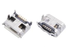 MICRO USB 5P母座大牛角四脚DIP micro母座