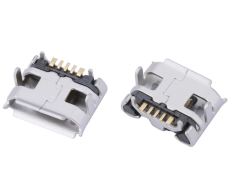 MICRO USB 5P母座牛角3A大电流快充 卷边