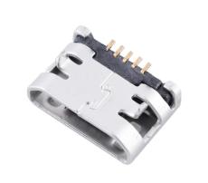 MICRO USB 5P母座前插后贴带焊盘B型外脚DIP