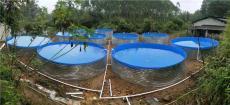 高密度帆布魚池帶鍍鋅板支架可養殖各種水產