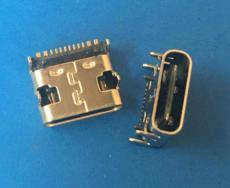 TYPE C 12-16P母座 SMT单排贴片 四脚插板
