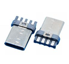 8P简易版TYPE-C 2.0公头-USB 3.1-2.0焊线式
