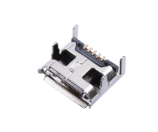 MICRO USB連接器5P母座B型DIP四腳插板7.2腳