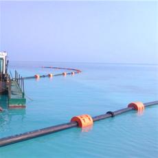 河道抽沙船管道浮筒吸泥管道浮體加工