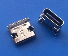 短体USB 3.1 TYPE C母座 单排16P贴片 四脚