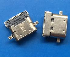 双包壳TYPE C母座24P USB 3.1短体 长度8.65
