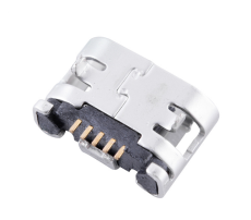MICRO USB 5P母座 插板DIP 直边MK连接器