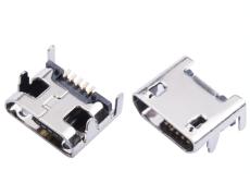 MICRO 5P USB母座7.2直边安卓接口 四脚插