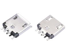 夹板MICRO USB连接器5P母座B型 安卓V8接口