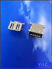 沉板5P大电流USB母座-斜口尾插-四脚破板