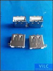 侧插USB母座-大电流2.0母头-测二脚固定