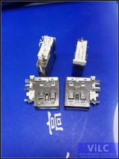 5P侧插USB母座-中间带脚-5脚DIP-进口大电流