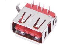 A母USB双面插母座90度弯脚DIP插板不分正反