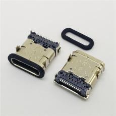 USB 3.1 TYPE C母座防水板上前插后贴24P
