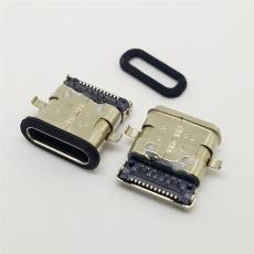 USB 3.1 TYPE C母座防水沉板1.7前插后贴