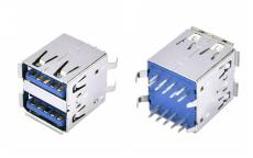 USB双层A母3.0连接器母座双层180度DIP直插