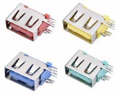 A母USB侧插短体10.0母座侧立式DIP插板直边